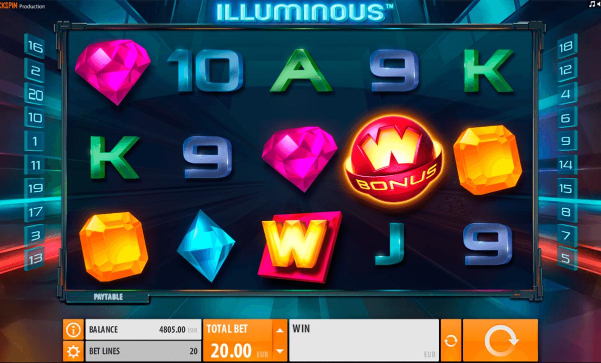 illuminous quickspin spelautomat