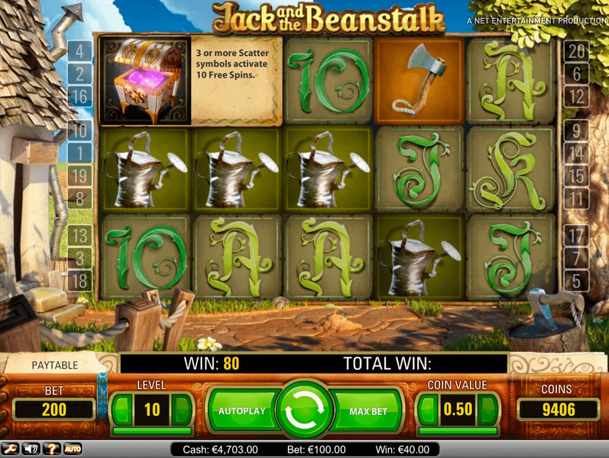 jack and the beanstalk netent spelautomat