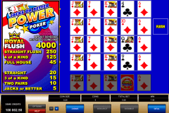 jacks or better  play power poker microgaming video poker