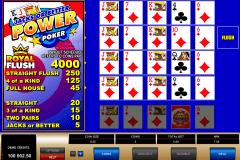 jacks or better  play power poker microgaming video poker