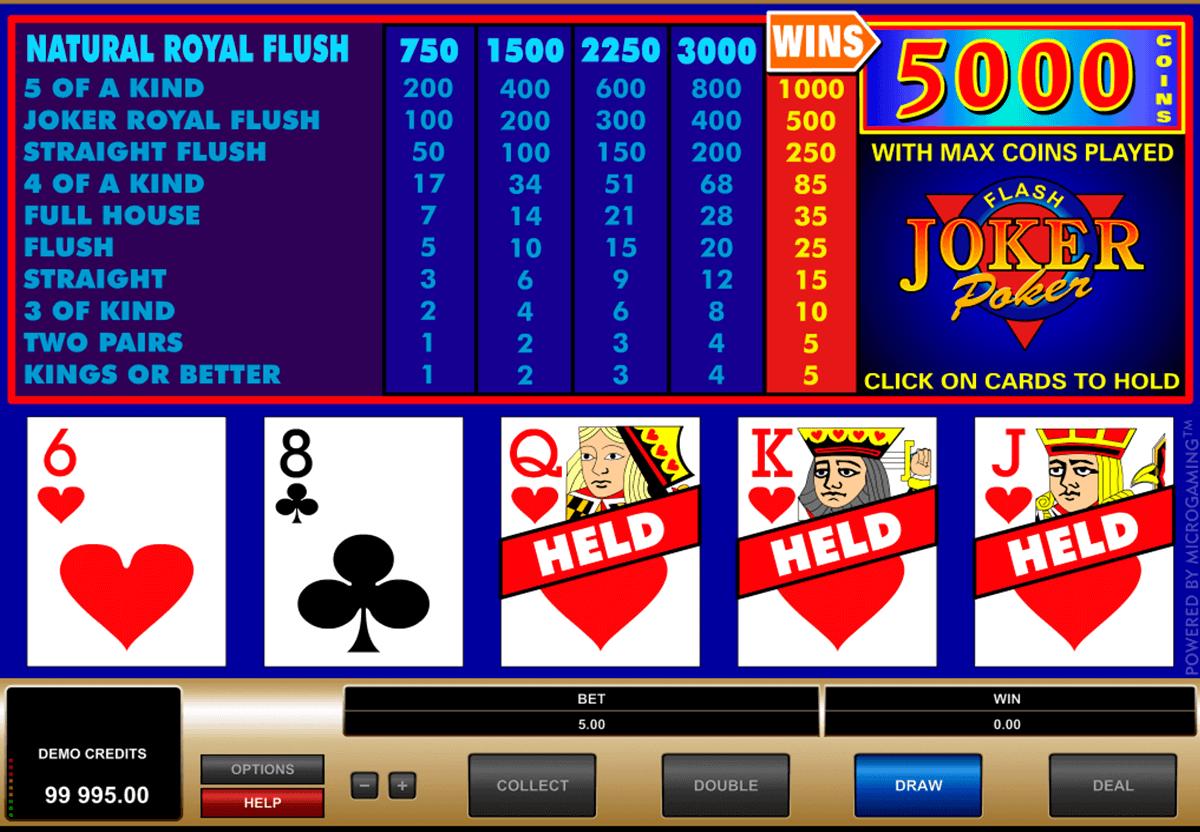 joker poker microgaming video poker