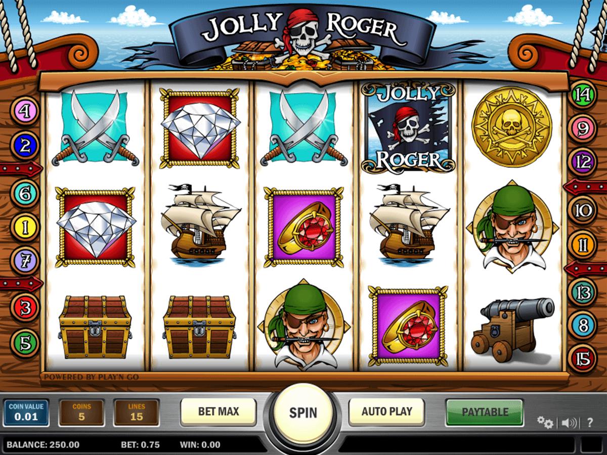 jolly roger playn go spelautomat