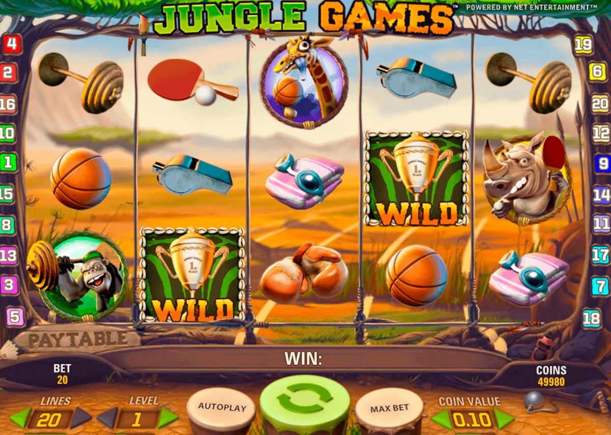 jungle games netent spelautomat