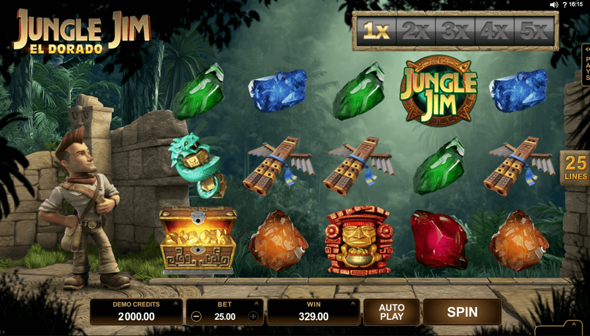 jungle jim el dorado microgaming spelautomat