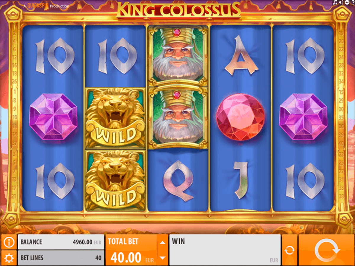 king colossus quickspin spelautomat