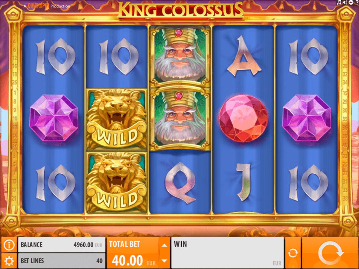 king colossus quickspin spelautomat