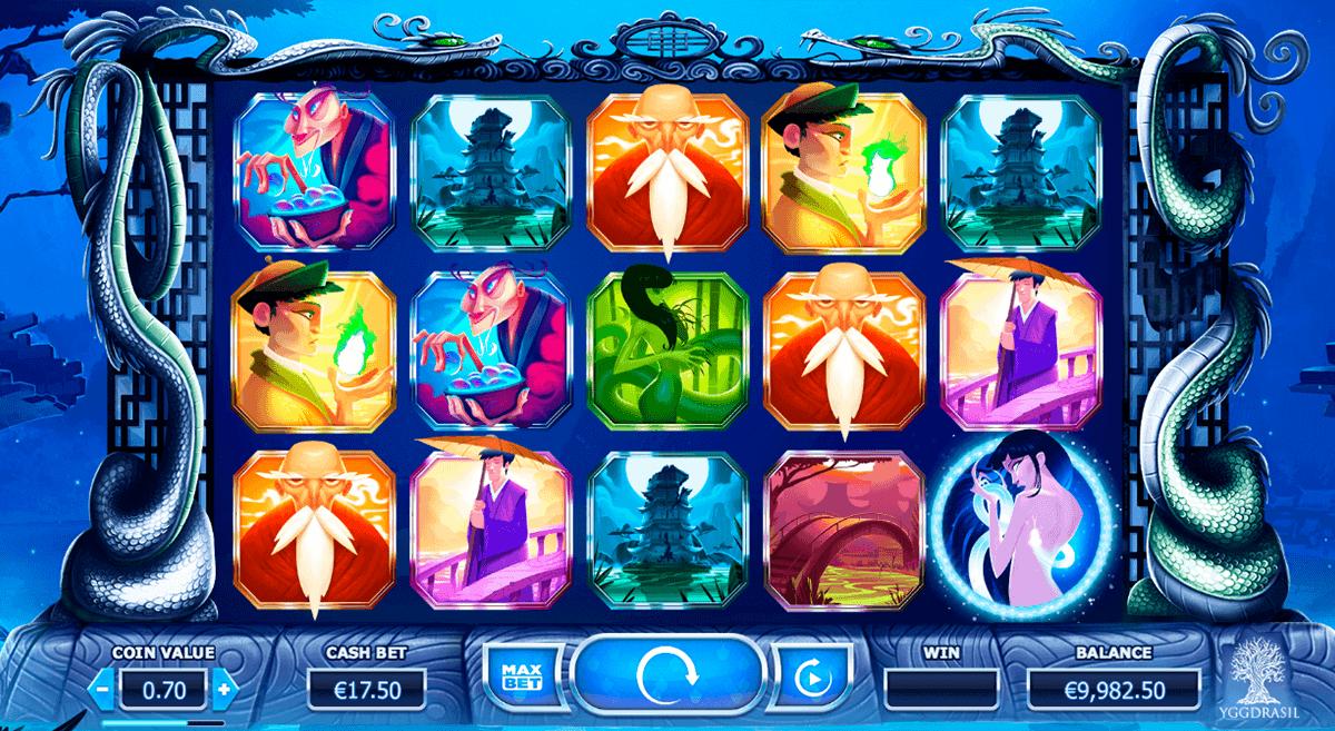 legend of the white snake lady yggdrasil spelautomat