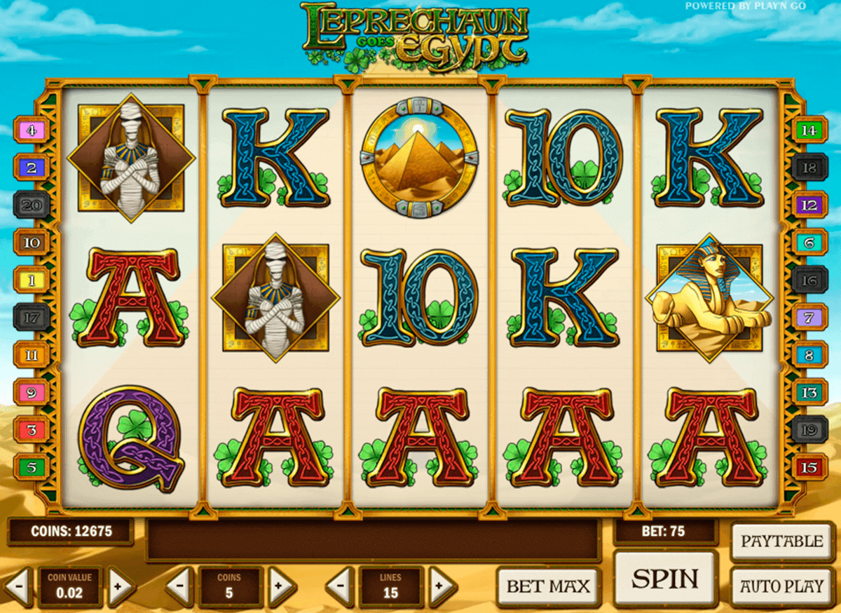 leprechaun goes egypt playn go spelautomat