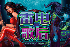 logo electric diva microgaming spelautomat