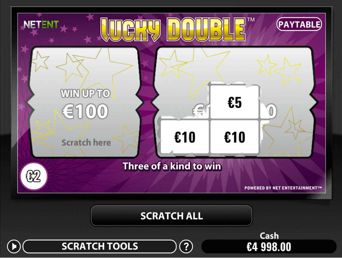 lucky double netent skraplott online
