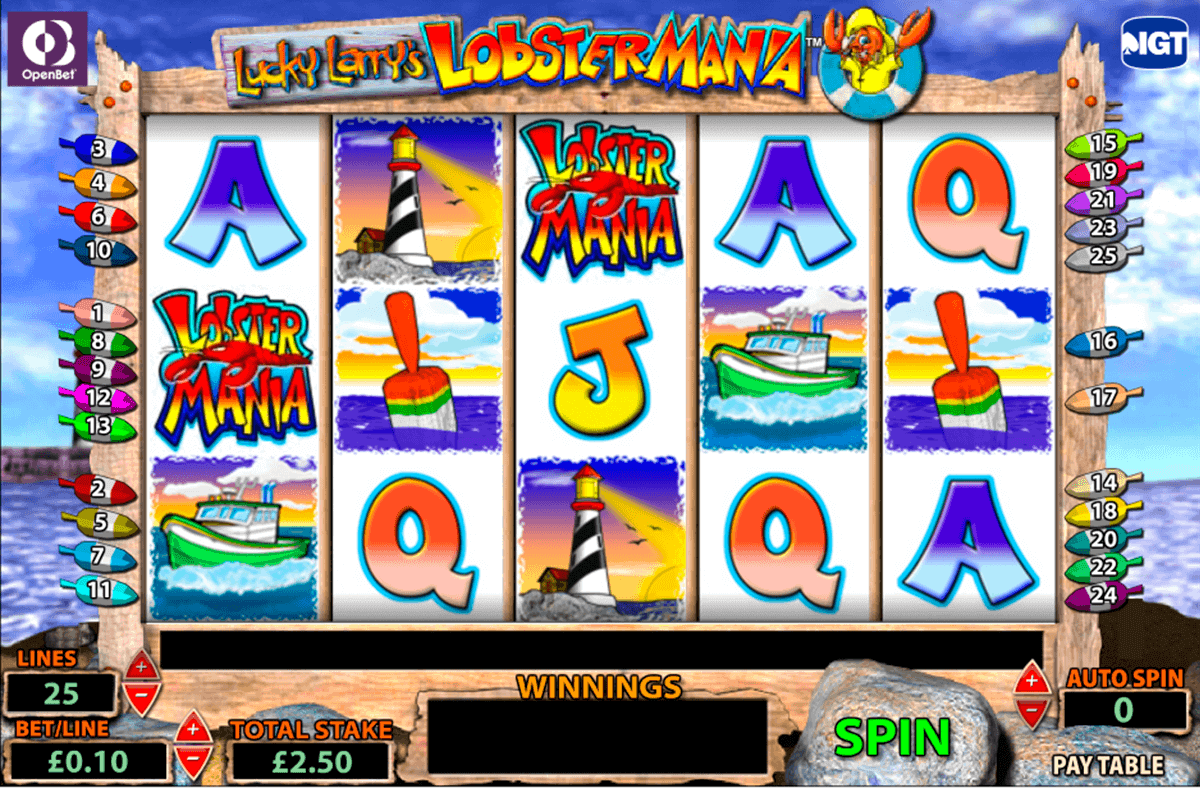lucky larrys lobstermania igt spelautomat