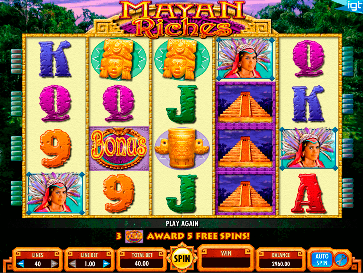 mayan riches igt spelautomat