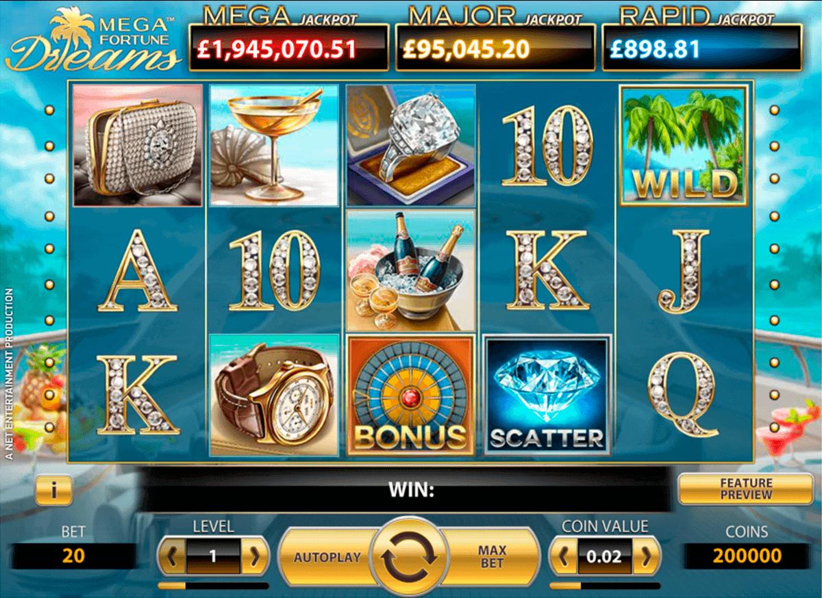 mega fortune dreams netent spelautomat