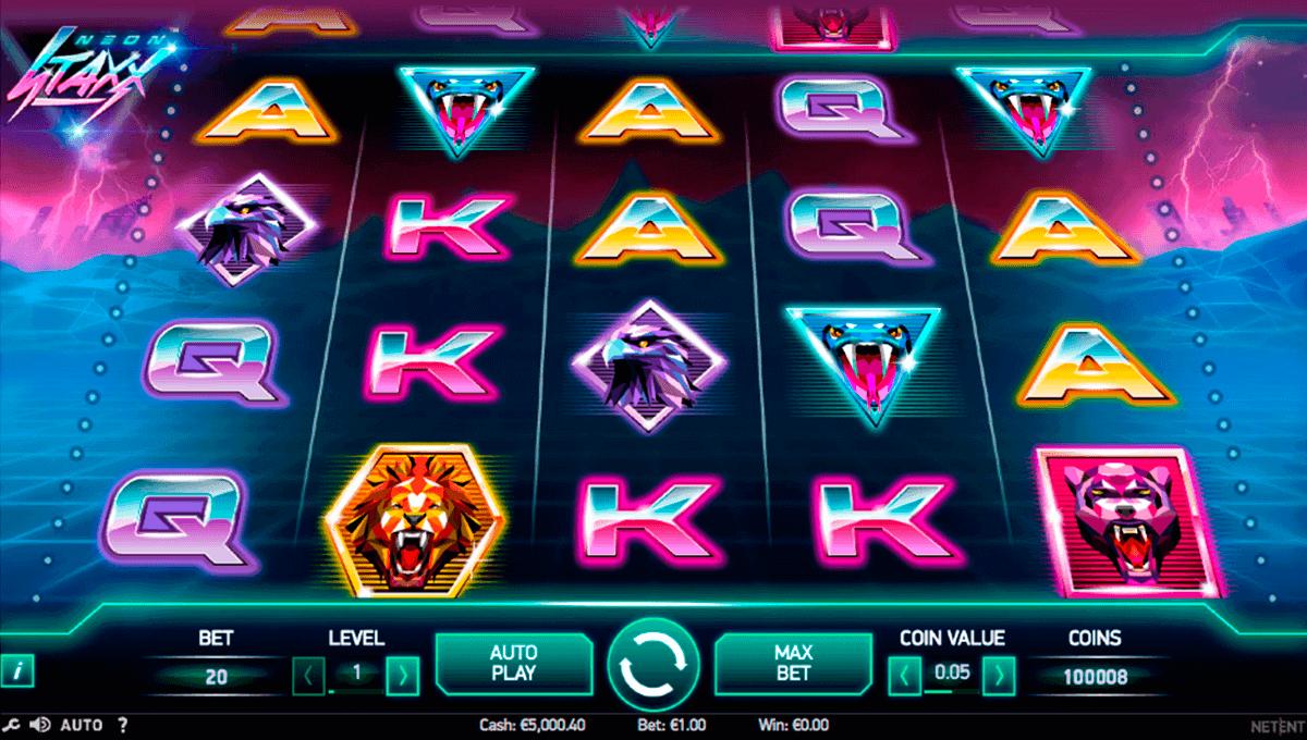 neon sta netent spelautomat