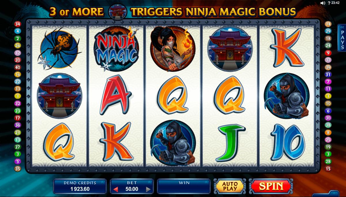 ninja magic microgaming spelautomat