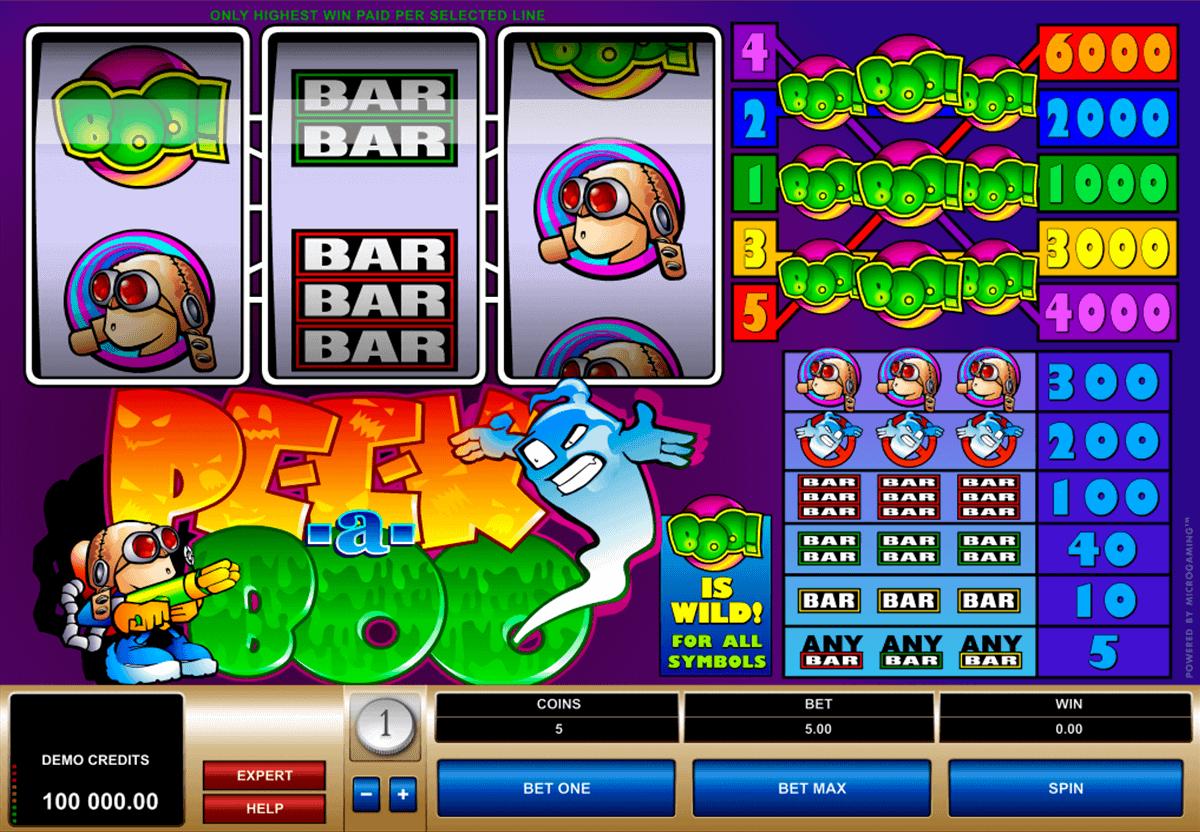 peek a boo microgaming spelautomat