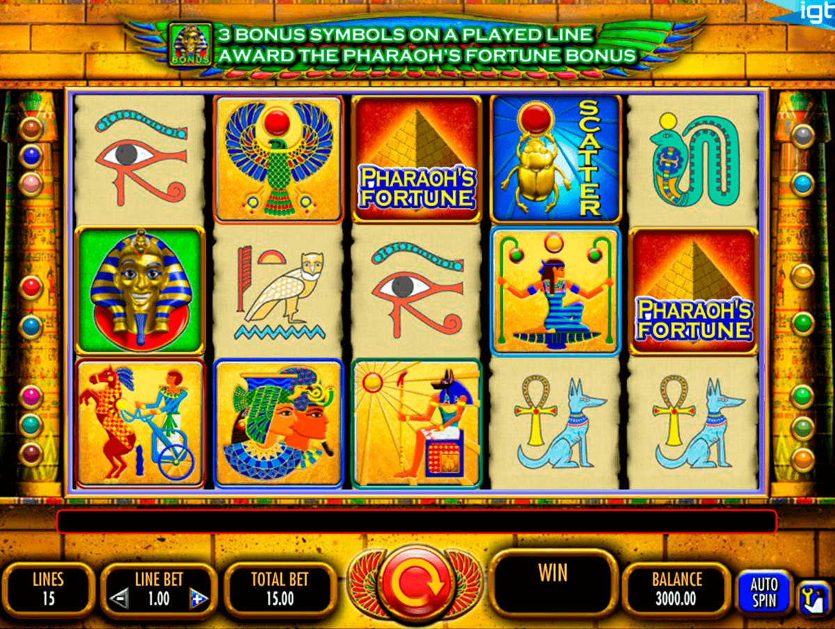 pharaohs fortune igt spelautomat