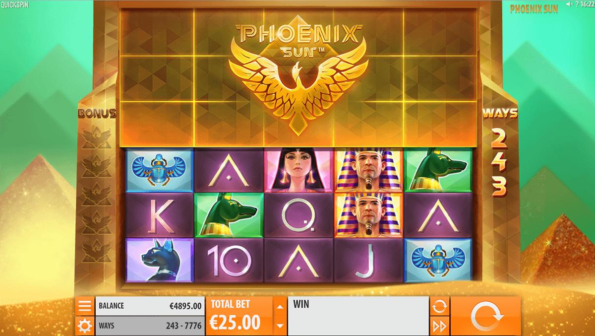 phoenix sun quickspin spelautomat