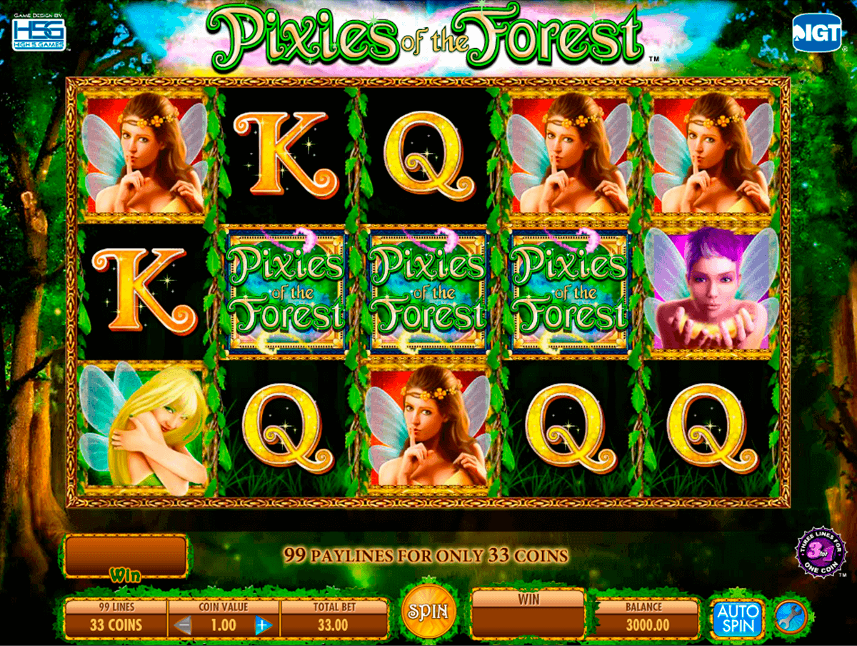 pixies of the forest igt spelautomat