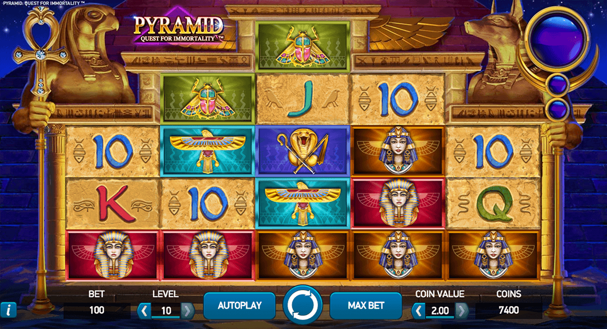 pyramid quest for immortality netent spelautomat