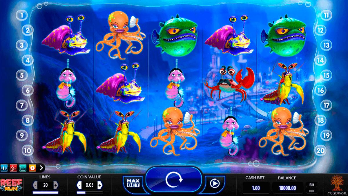 reef run yggdrasil spelautomat