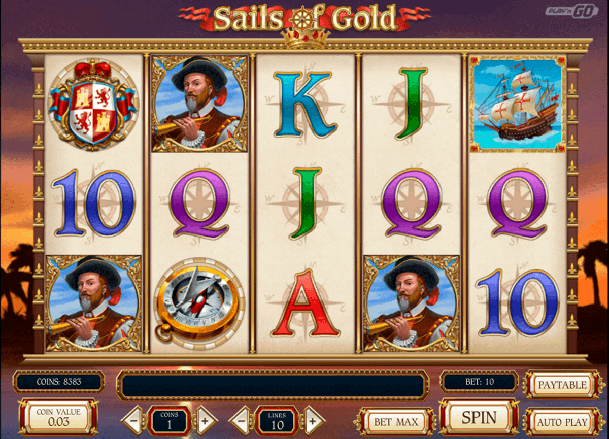 sails of gold playn go spelautomat