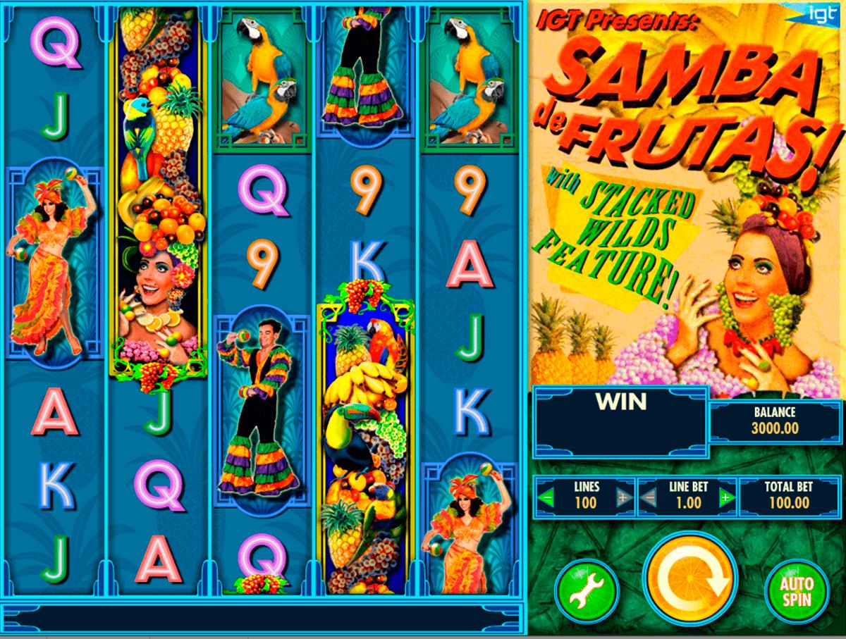 samba de frutas igt spelautomat