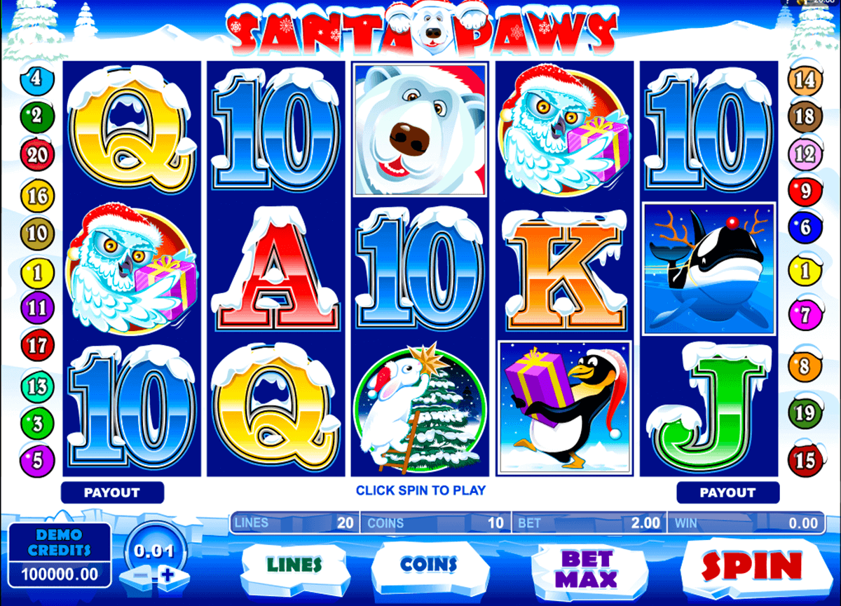 santa paws microgaming spelautomat