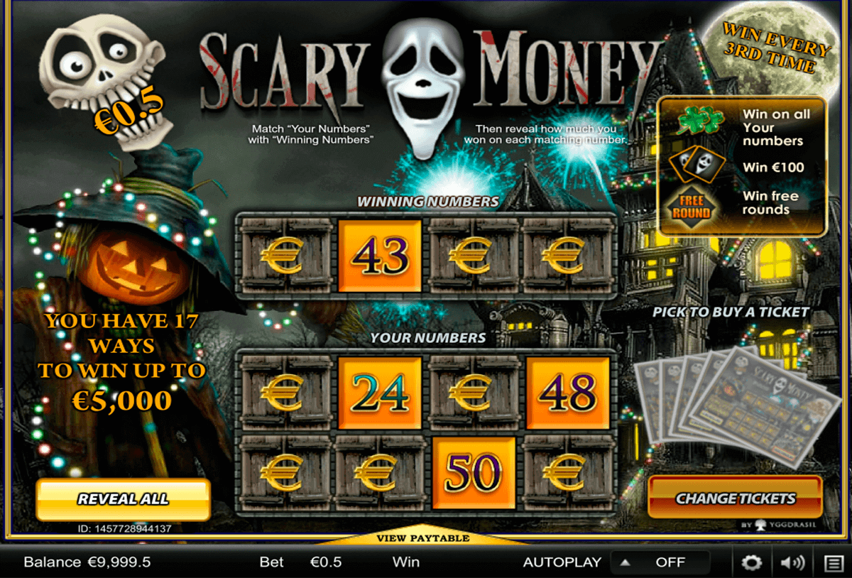 scary money yggdrasil skraplott online