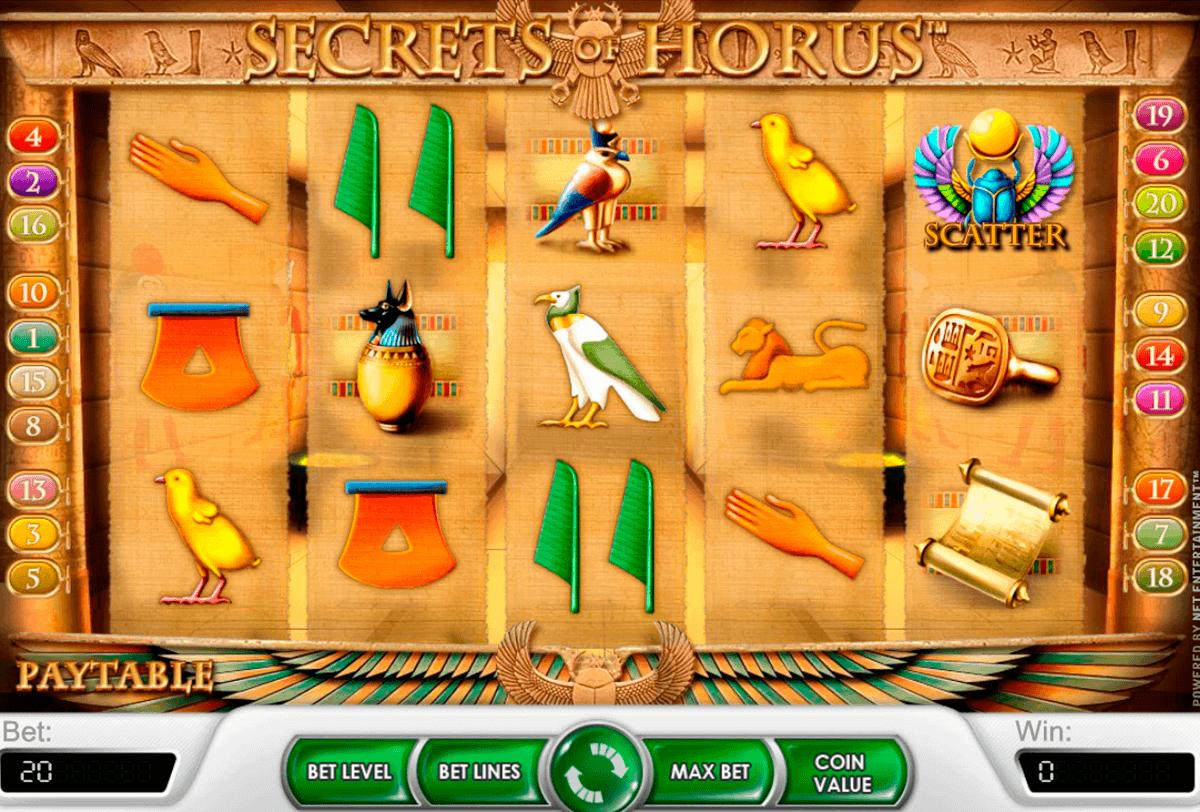 secrets of horus netent spelautomat