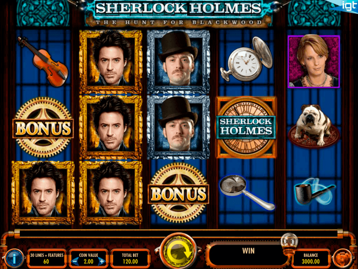 sherlock holmes the hunt for blackwood igt spelautomat