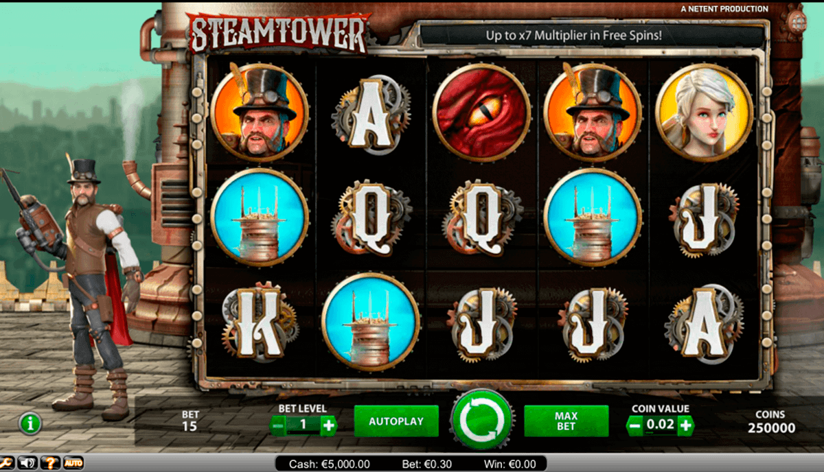 steam tower netent spelautomat