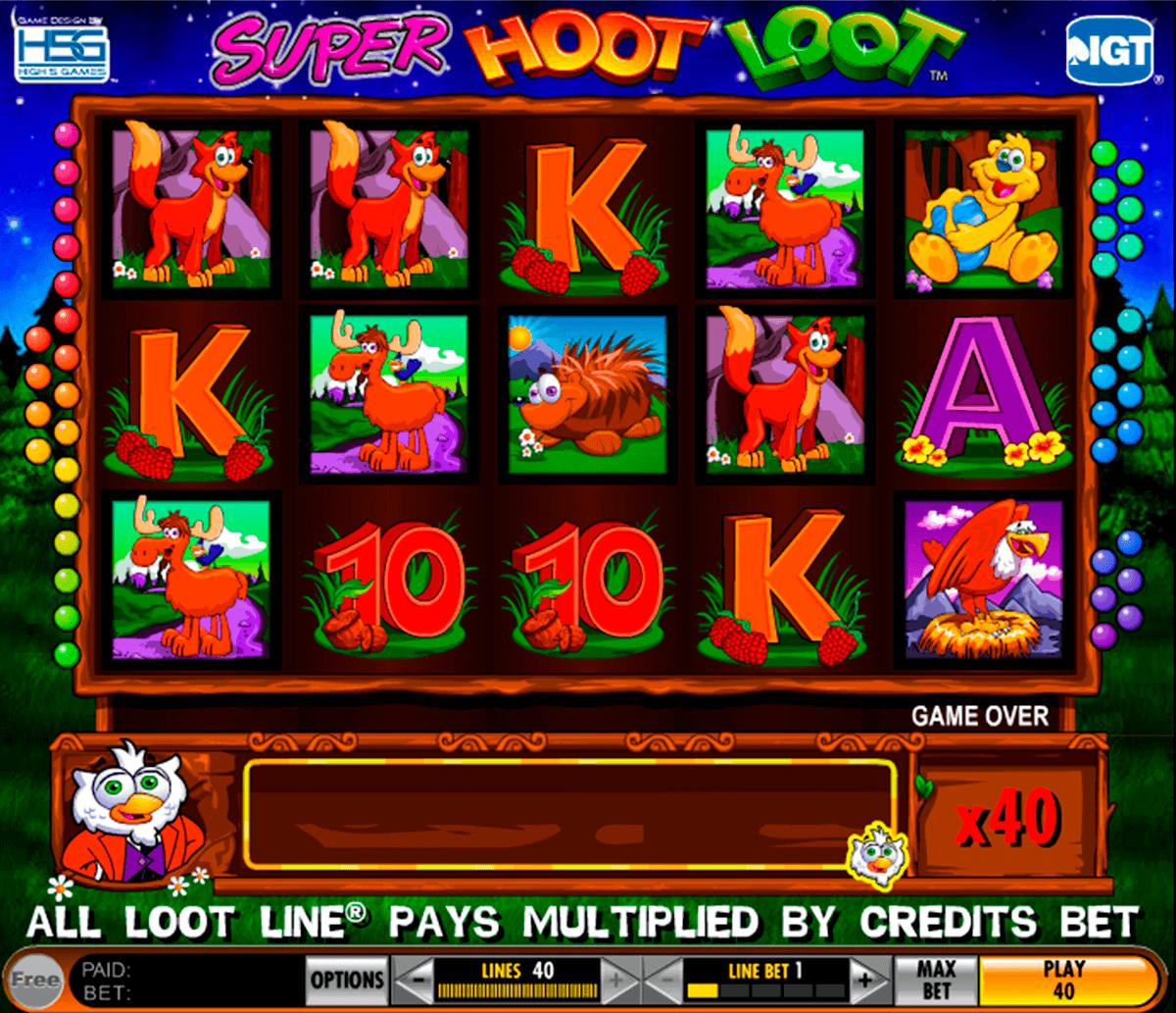 super hoot loot igt spelautomat