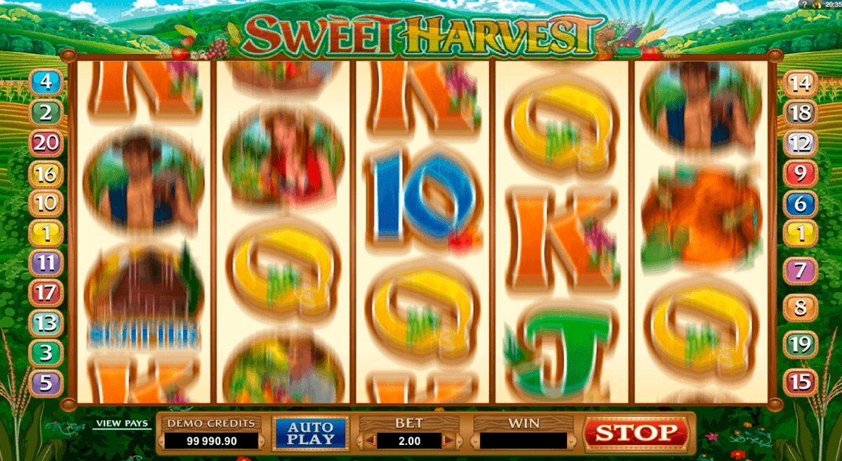 sweet harvest microgaming spelautomat