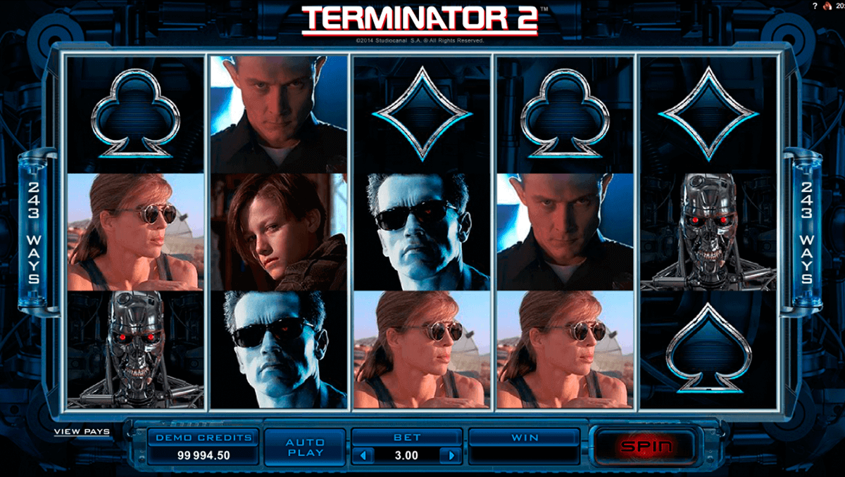 terminator  microgaming spelautomat
