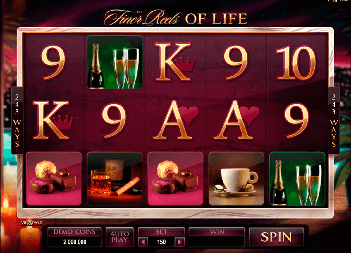 the finer reels of life microgaming spelautomat