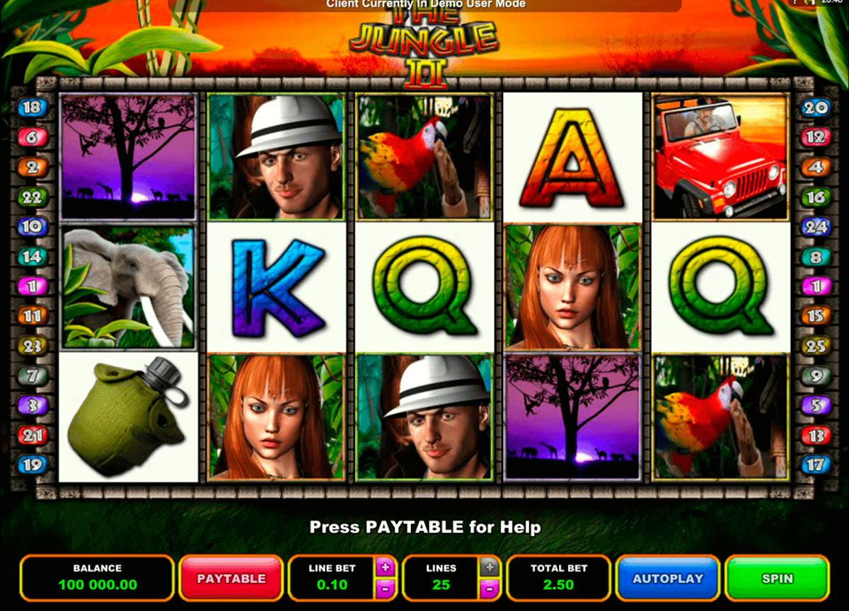 the jungle ii microgaming spelautomat