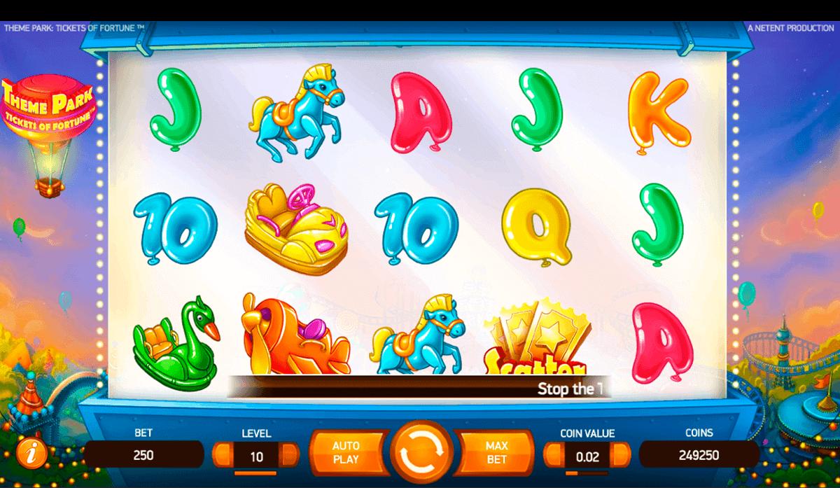 theme park tickets of fortune netent spelautomat