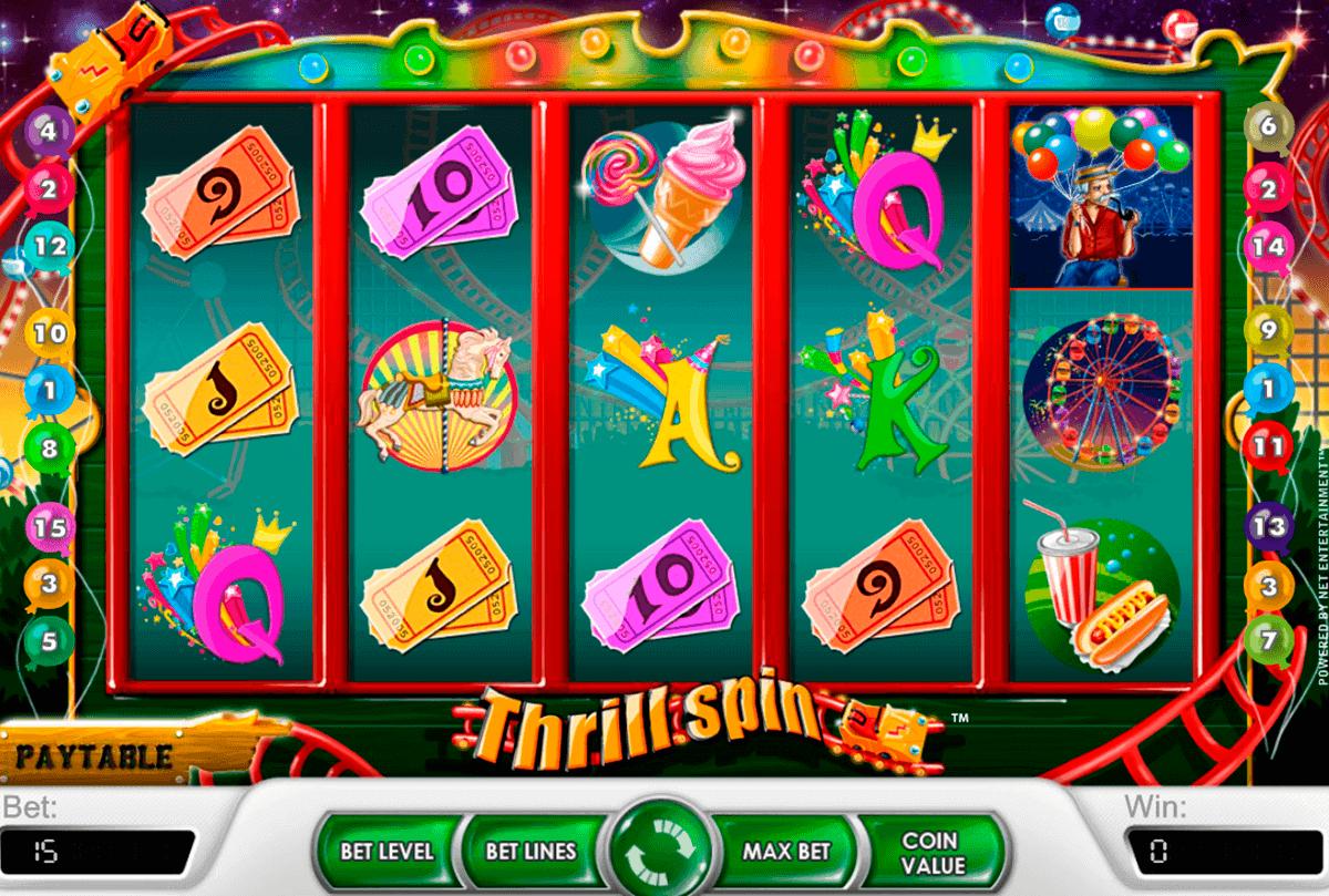 thrill spin netent spelautomat