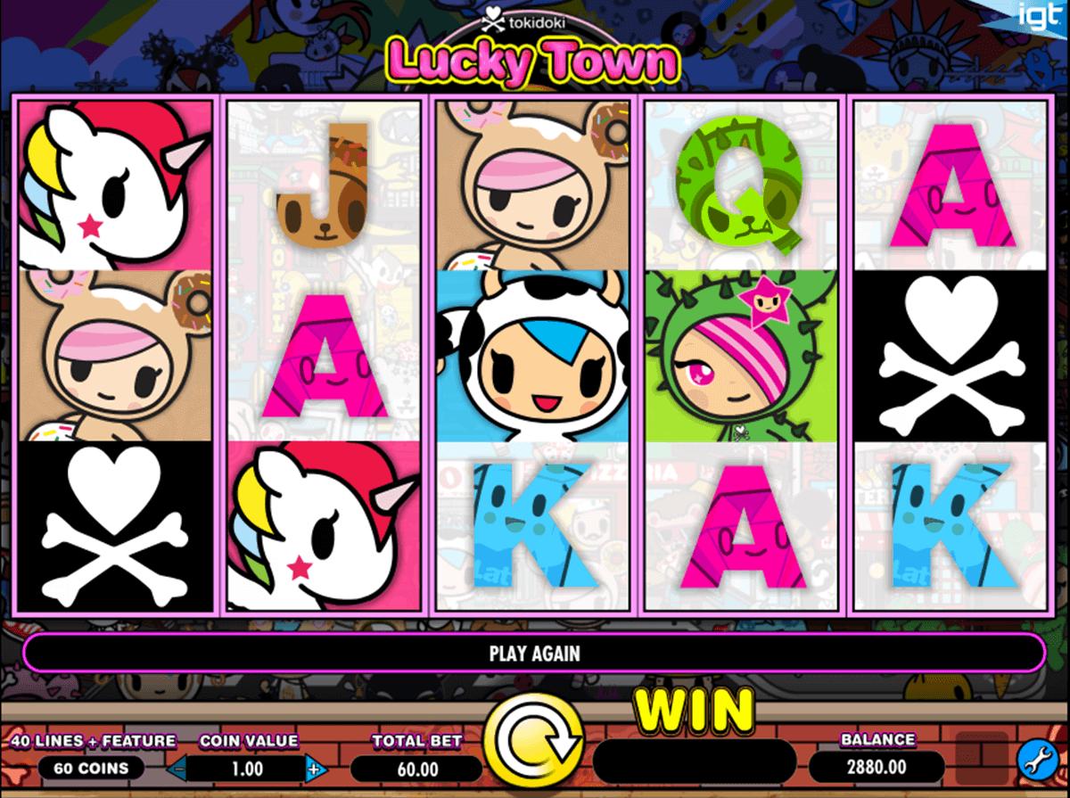 tokidoki lucky town igt spelautomat