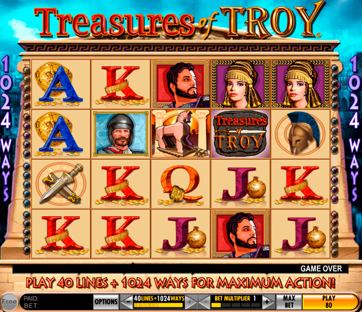 treasures of troy igt spelautomat
