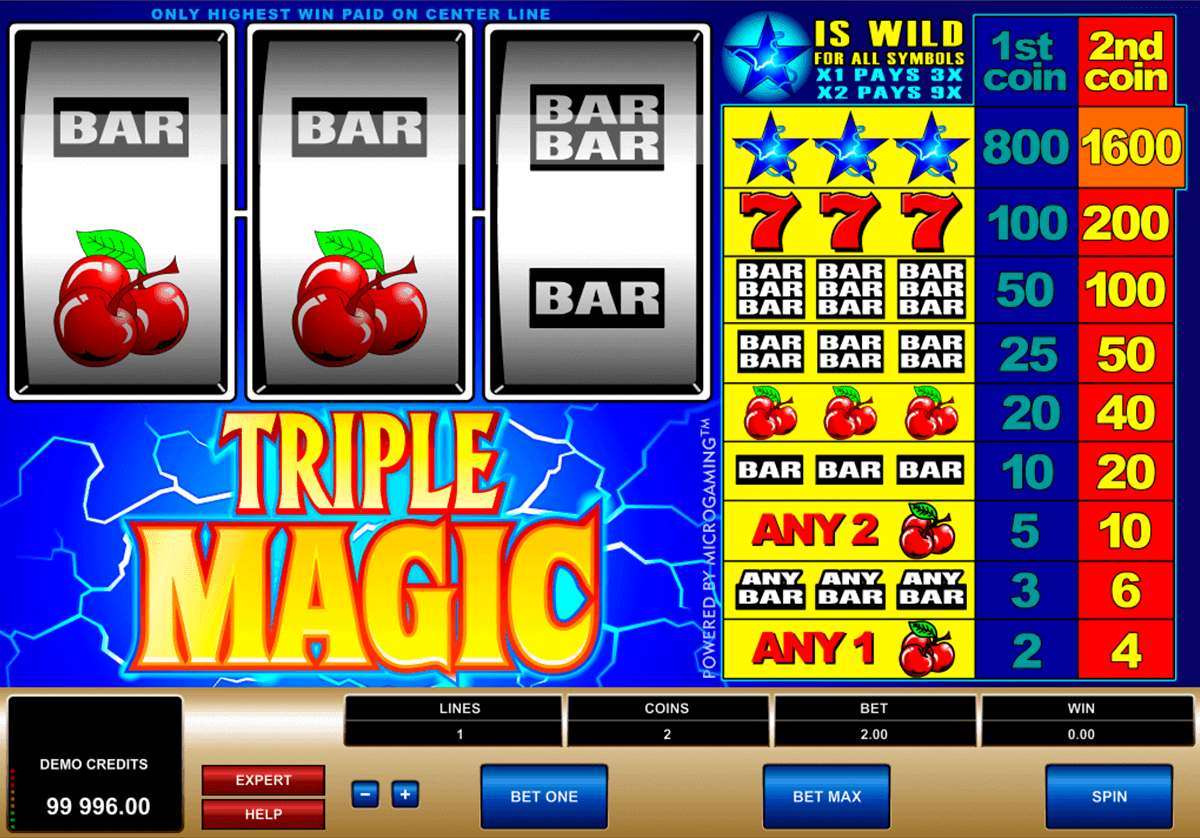 triple magic microgaming spelautomat