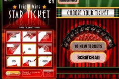 triple wins star ticket netent skraplott online