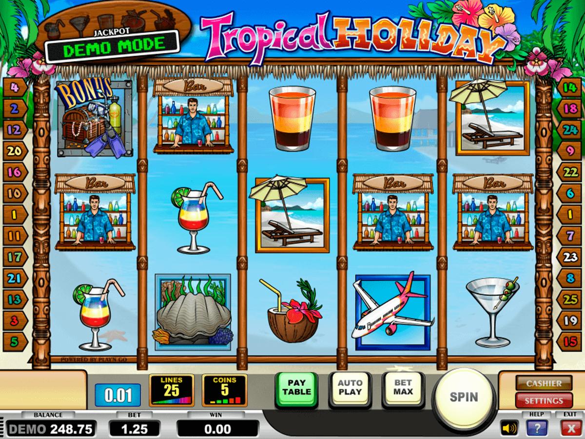 tropical holiday playn go spelautomat