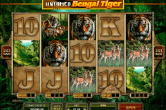 untamed bengal tiger microgaming spelautomat