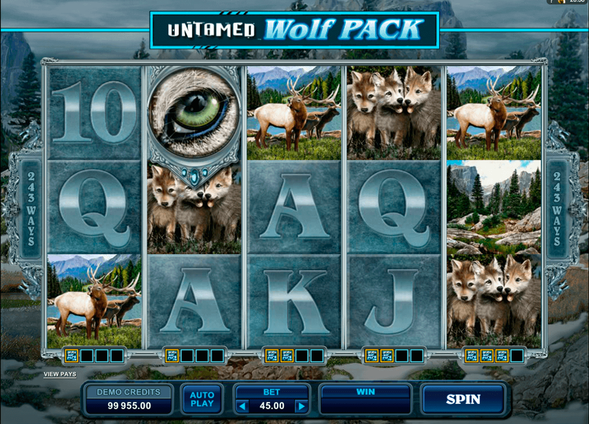 untamed wolf pack microgaming spelautomat