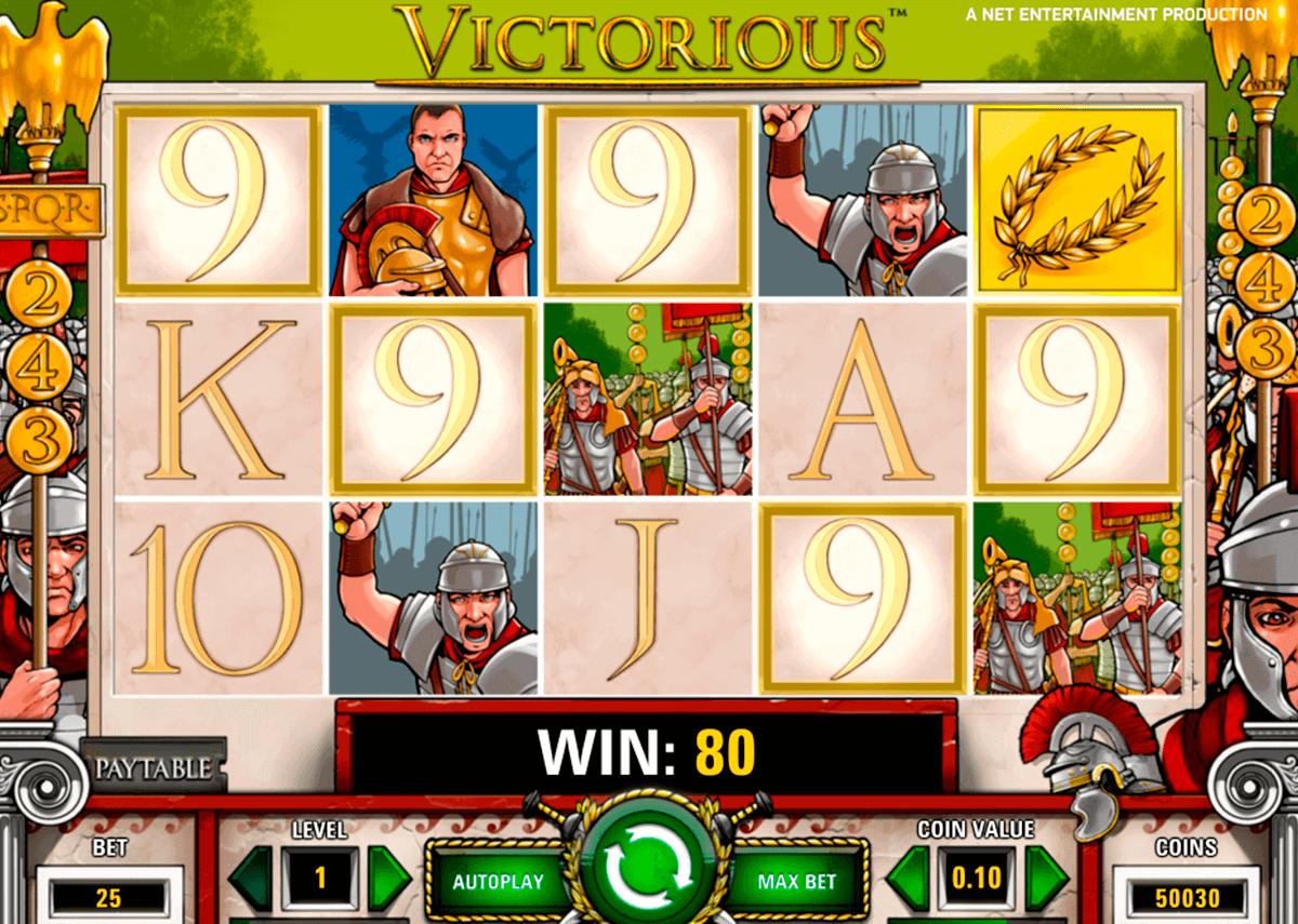 victorious netent spelautomat