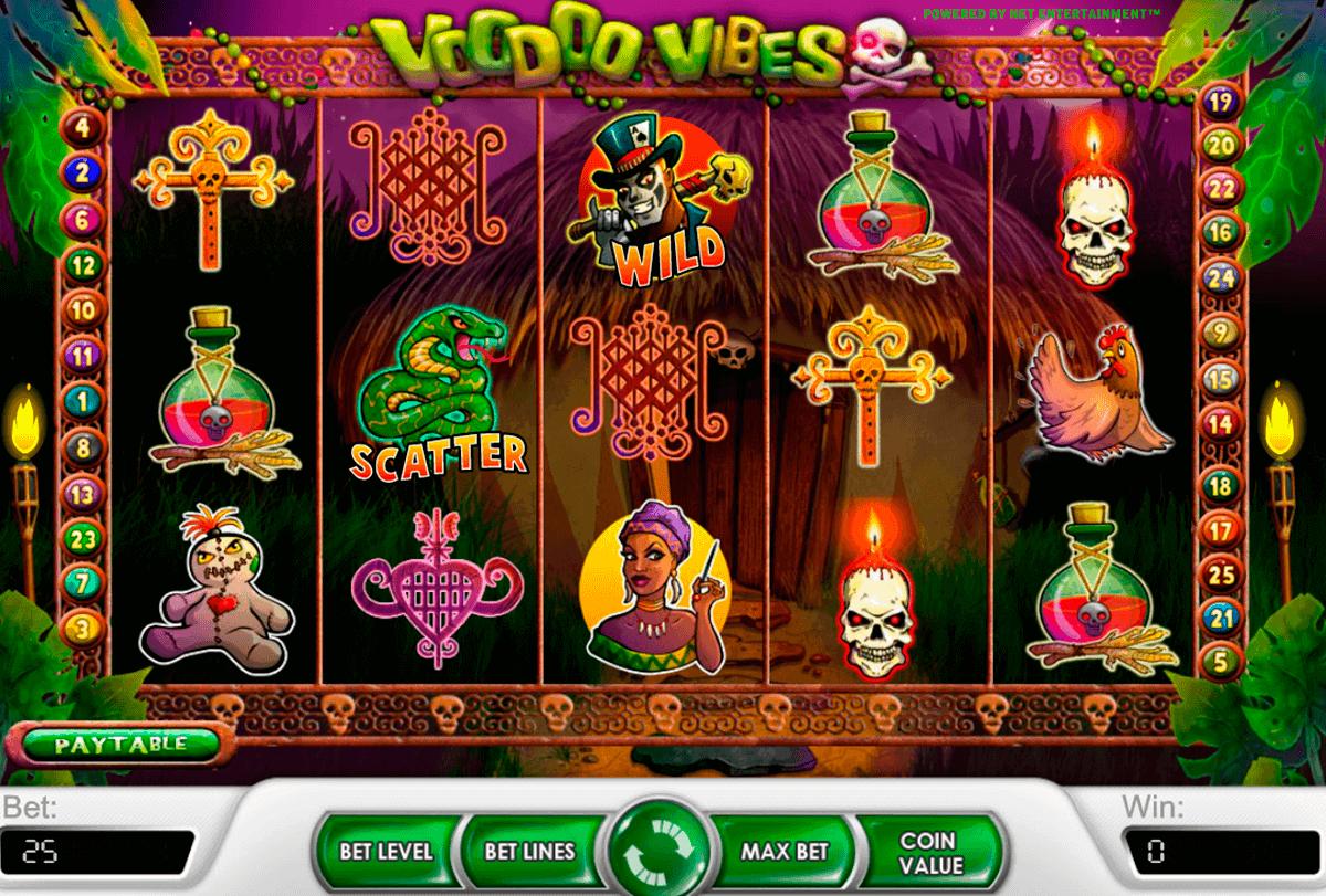 voodoo vibes netent spelautomat