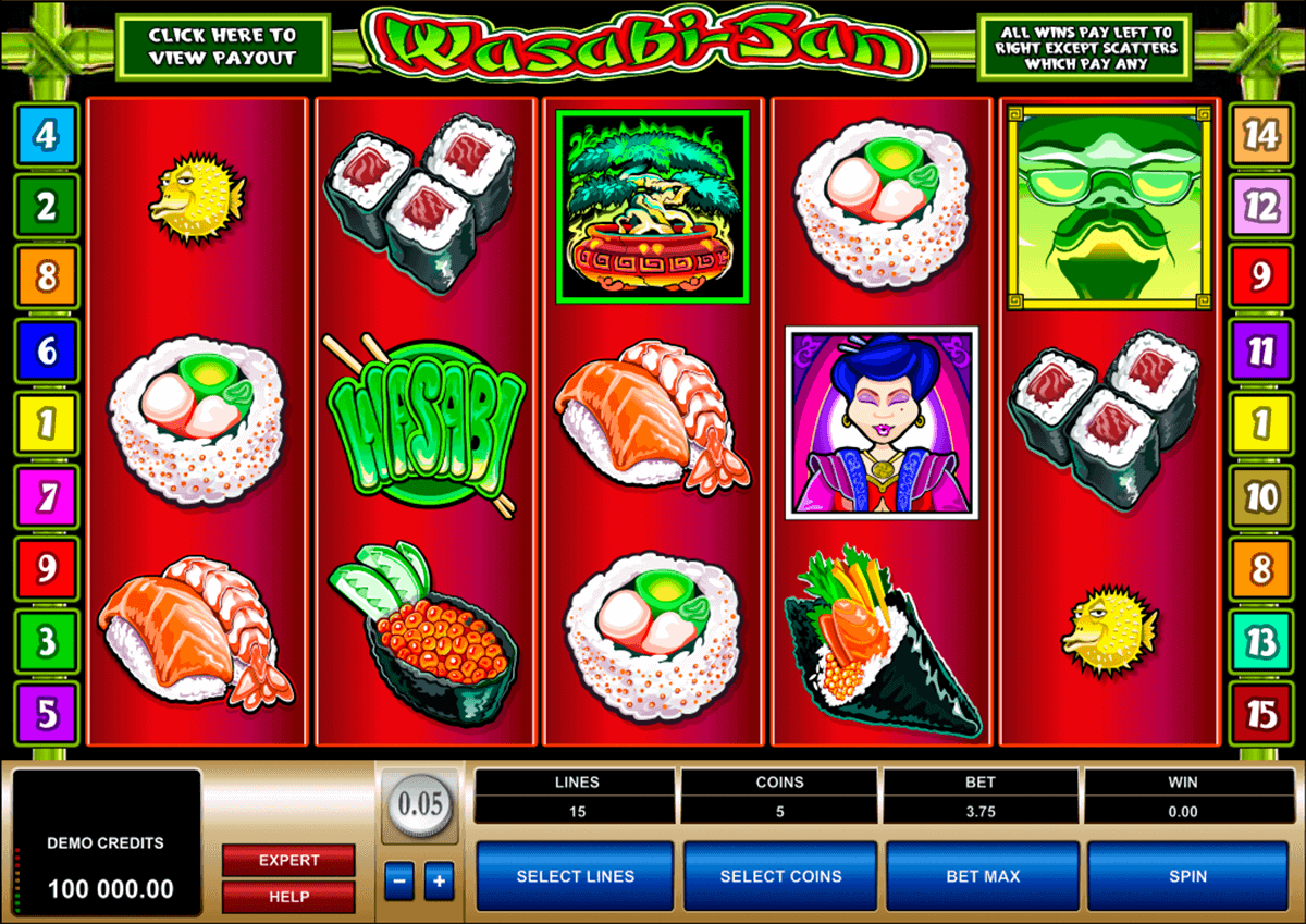 wasabisan microgaming spelautomat