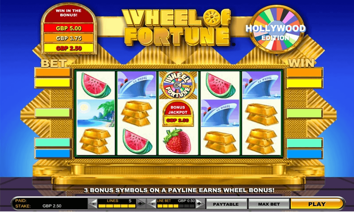 wheel of fortune hollywood edition igt spelautomat